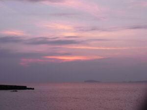 森戸海岸の夕焼け